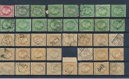 FRANCE - COLLECTION DE 811 TIMBRES CLASSIQUES POUR ETUDE DES GC, CAD, ETOILES DE PARIS, TEINTES ETC... - Collections