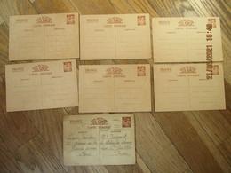 Entiers Postaux Iris 6 Neufs 90 Cts + 1 Posté De Paris à St Gaultier  Courrier WW2 - Guerre 1939-45