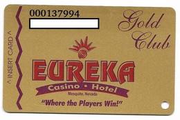 Eureka Casino, Mesquite, NV, U.S.A., Older Used Slot Or Player's Card, # Eureka-1 - Casino Cards