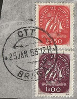 Timbre Portugal Belle Obliteration Braga - Used Stamps