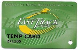 Evangeline Downs Racetrack & Casino, Opelousas, LA, U.S.A. Older Used Slot Or Players Card, # Evangeline-1 - Casino Cards