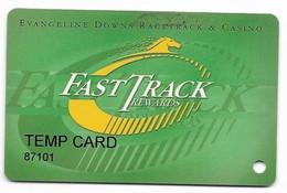 Evangeline Downs Racetrack & Casino, Opelousas, LA, U.S.A. Older Used Slot Or Players Card, # Evangeline-2 - Casino Cards
