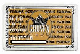 Excalibur Casino, Las Vegas, Older Used Slot Or Player's Card, # Excalibur-1 - Casino Cards