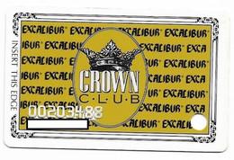 Excalibur Casino, Las Vegas, Older Used Slot Or Player's Card, # Excalibur-2 - Casino Cards