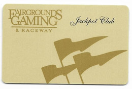 Fairgrounds Gaming & Raceway, Hamburg, NY, U.S.A., Older BLANK Used Slot Or Player's Card,  Fairgrounds-1blank - Casino Cards