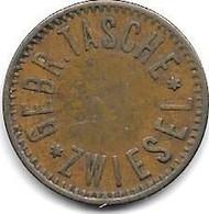 *notgeld  ZWIEZEL  10 WERTH MARKE Gebr. Tasche - Monetary/Of Necessity