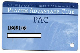 Fallsview Casino Resort, Ontario, Canada., Used Slot Or Player's Card, # Fallsview-1 - Casino Cards