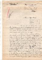 """Courrier à L'agent Général De La Compagnie Des Chargeurs Réunis Le Havre Du Vapeur """"Putt-Kamer"""" à Dakar Juillet 1920 - Boten"""