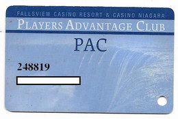 Fallsview Casino Resort, Ontario, Canada., Used Slot Or Player's Card, # Fallsview-2a - Casino Cards