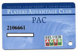Fallsview Casino Resort, Ontario, Canada., Used Slot Or Player's Card, # Fallsview-2b - Casino Cards