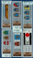 2106.2114 Yemen 1968 Olympic Winter Games 6 Values MNH City Crests Saporro, Grenoble, Innsbruck, Cortina, Squaw Valley - Otros