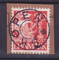 Vorläufer Faroe Islands Denmark Used Abroad Uds. Stjernestempel Star Cancel SKOPEN 1940 Mi. 262, 20 Øre Karavelle - Faroe Islands
