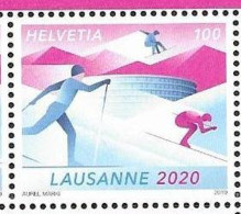 SWITZERLAND, 2019, MNH, YOUTH OLYMPICS, LAUSANNE 2020, SKIING, 1v - Otros