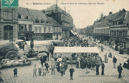 02) BOHAIN : Place Du Marché (1909) - Andere Gemeenten