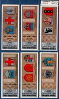 2106.2116 Yemen 1968 Olympic Summer Games 6 Values MNH City Crests München, Mexico, Tokio, Rom, Melbourne, Helsinki - Otros