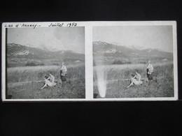 VUE STEREOSCOPIQUE SUR VERRE (M2105) FRANCE ANNECY Années 50 (3 Vues) LAC D'ANNECY A - Stereoscopio