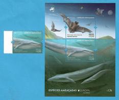 Portugal / Azoren  2021 , Europa Cept Especies Ameacadas - Postfrisch / MNH / (**) - Unused Stamps