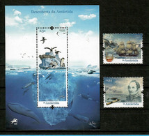 Portugal 2021 , Descoberta Da Antartida - Satz + Block , Postfrisch / MNH / (**) - Unused Stamps
