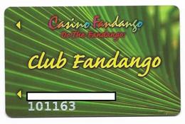 Fandango Casino, Carson City, NV,  U.S.A., Older Used Slot Or Player's Card, # Fandango-1 - Casino Cards