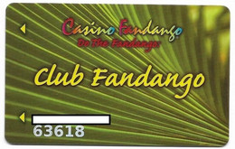 Fandango Casino, Carson City, NV,  U.S.A., Older Used Slot Or Player's Card, # Fandango-2 - Casino Cards