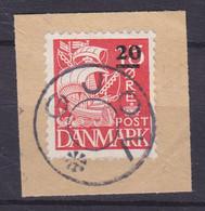 Faroe Islands 1940 Mi. 4  20/15 Øre Karavelle British Occupation WWII Danish Uds. Stjernestempel Star Cancel GJOV - Faroe Islands