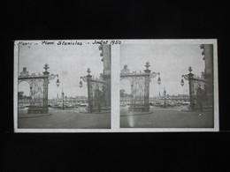 VUE STEREOSCOPIQUE SUR VERRE (M2105) FRANCE NANCY Années 50 (3 Vues) Place Stanislas - Stereoscopio
