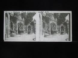 VUE STEREOSCOPIQUE SUR VERRE (M2105) FRANCE NANCY Années 50 (3 Vues) Place Stanislas Et Fontaines - Stereoscopio