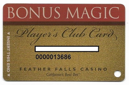 Feather Falls Casino, Oroville, CA, U.S.A., Older Used Slot Or Player's Card, # Featherfalls-1 - Casino Cards