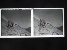 VUE STEREOSCOPIQUE SUR VERRE (M2105) FRANCE CHAMONIX Années 50 (3 Vues) La Mer De Glace - Stereoscopio