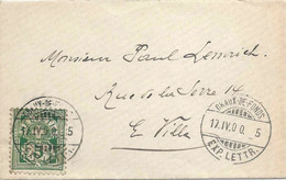 Brieflein  Chaux-de-Fonds           1900 - Briefe U. Dokumente