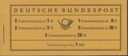 BRD  Markenheftchen 4 X U, Postfrisch **, Heuss 1958 - Blocchi