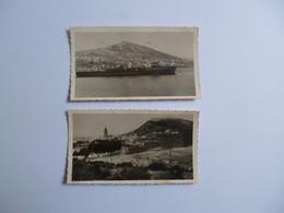 2 Cartes Photos  AGADIR  -  Le Port  Er La Kasbah  -   Talborj Et La Kasbah  -  MAROC - Agadir