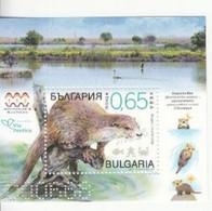 2019 Bulgaria Otters Mammals  Complete Souvenir Sheet MNH - Nuovi