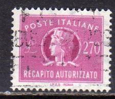 ITALIA REPUBBLICA ITALY REPUBLIC 1955 1990 RECAPITO AUTORIZZATO 1984 TURRITA LIRE 270 STELLE STARS USATO USED OBLITERE - 1946-60: Oblitérés