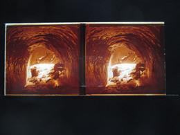 VUE STEREOSCOPIQUE SUR VERRE (M2105) FRANCE CHAMONIX Années 50 (3 Vues) Mer De Glace D ? - Stereoscopio