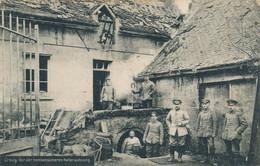 02) CROUY : Carte Allemande : Vor Der Bombensicheren Kellerwohnun (1915) Ro/vo - Andere Gemeenten