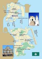 China Macao Map Macau New Postcard Landkarte AK - Maps