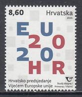 2020 Croatia Council Of Europe Presidency Complete Set Of 1 MNH - Kroatien