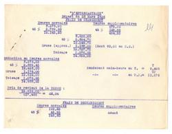 """Frais De Chargement Vapeur """"D'Entrecasteaux"""" Chargeurs Réunis Départ 28 Mars 1936- Format : 21x16cm - Boten"""