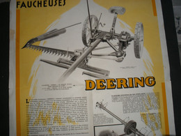 AFFICHE 42cm X 54cm Sur Publicité Faucheuse DEERING - Autres