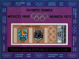 2106.2118 Yemen 1968 Olympic Summer Games Block MNH City Crests Grenoble, Saporro Mexico, München - Otros