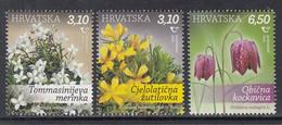 2020 Croatia Flowers Fleurs Complete Set Of 3 MNH - Croazia
