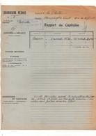 """Rapport Du Capitaine Ligne De La Plata Vapeur """"Mersington Corint"""" Chargeurs Réunis à Anvers En 1929 - Format : 21x27cm - Boten"""