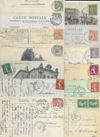 LOT DE 500 CARTES AVEC CACHET CONVOYEUR / AMBULANT . PERIODE 1900/1950 Environ. - Spoorwegpost
