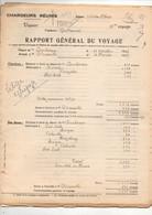 """Rapport Général Du Voyage Ligne D'Indo-Chine Vapeur """"Forbin"""", Capitaine Guillaumet Chargeurs Réunis à Marseille En 1937 - Boten"""