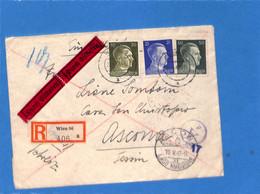 Allemagne Reich 1943 Lettre De Wien à La Suisse, Avec Censure (envoyé Par Erreur à Ancône Au Lieu D'Ascona)  (G2244) - Storia Postale