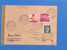 Allemagne Reich 1945 Lettre De Aschau à La Suisse, Avec Censure  (G2245) - Storia Postale