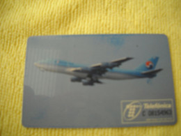 7309 Télécarte Collection KOREAN AIR  AVION Madrid  ( Recto Verso)  Carte Téléphonique - Aerei