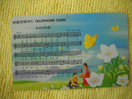 7313 Télécarte Collection PAPILLON  Fleurs Musique ( Recto Verso)  Carte Téléphonique - Farfalle