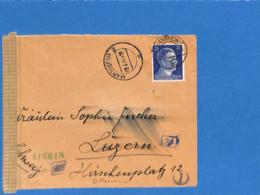 Allemagne Reich 1944 Lettre De Mannheim à La Suisse, Avec Censure  (G2263) - Lettres & Documents